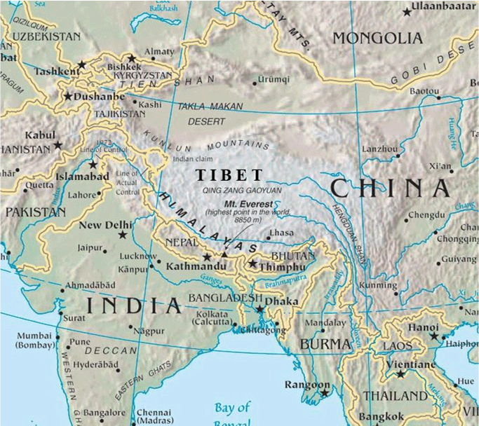 Himalayan Mountains: Location Of Himalayan Mountains On World Map
