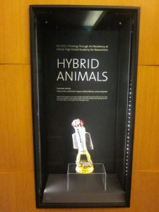 The first case featuring one hybrid animal and text about the TTA Residency