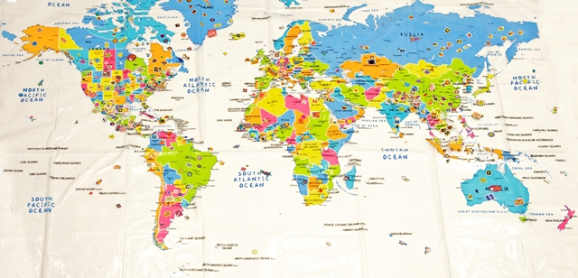 Full World Map Timekeeperwatches - Picture of world map