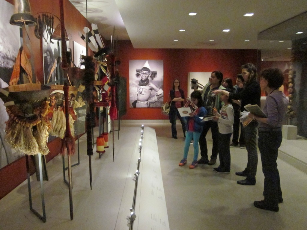 full group in museum