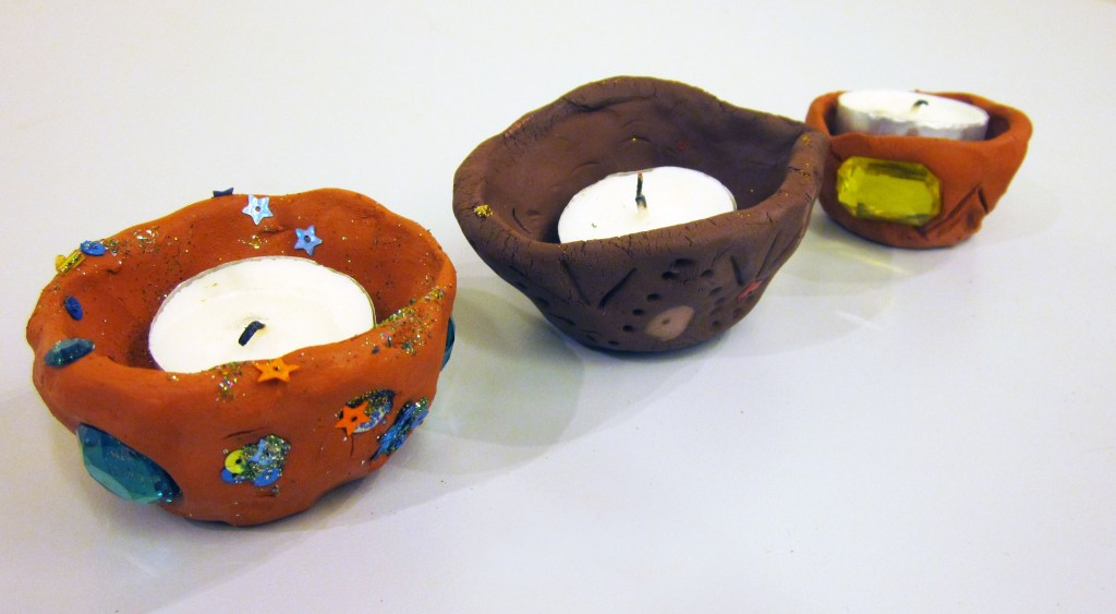 clay lamps