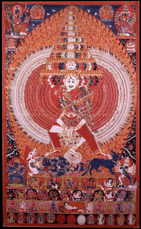 शिवविश्वरूप Cosmic  Shiva Pigments on cotton C2003.20.2 (HAR 65250)