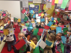 The final product! Our very own wish flags!